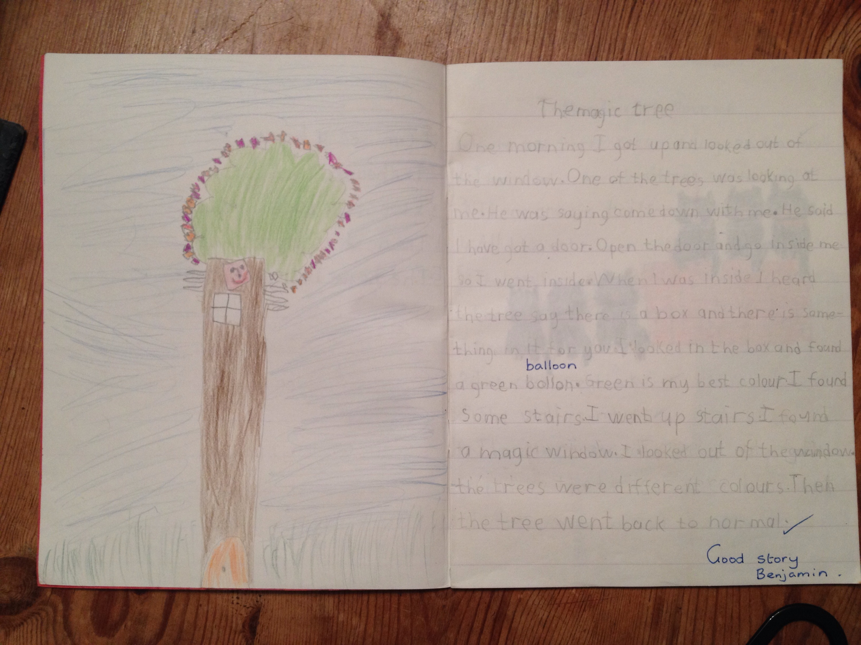 Colour childrens literature -  The Magic Tree By Ben Aged 5